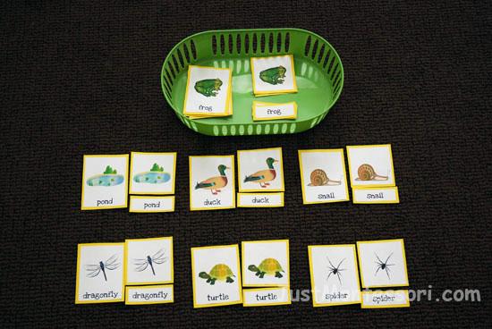Pond Three-part Matching (homeschoolcreations.com)