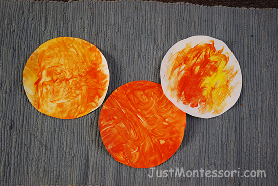 Sun Finger Painting