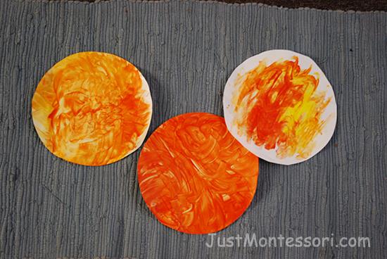 Sun Finger Painting