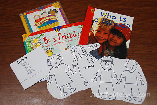 Friends book and coloring