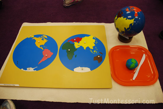 Hemisphere Map Lesson