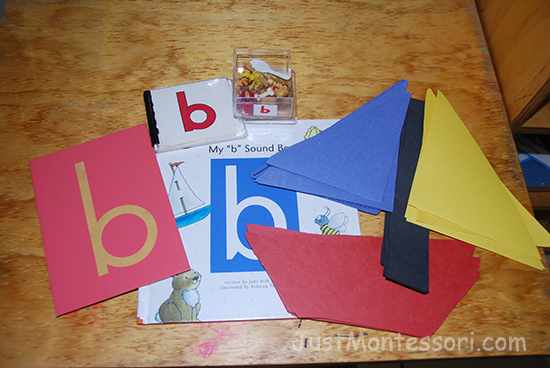 Letter sound b lesson. A boat could be made for art.