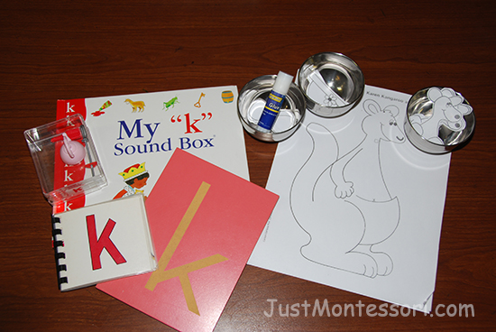 Letter sound k lesson with a kangaroo for art.
