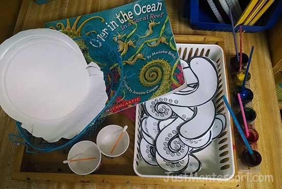 Ocean Book with Art