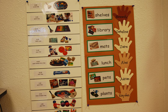 Classroom Schedule and Helpers