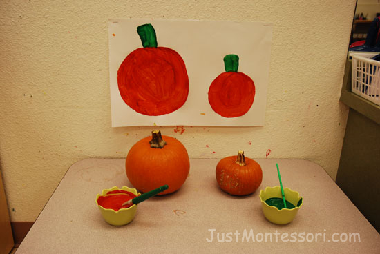 Painting Pumpkins (add pumpkin spice to the paint)