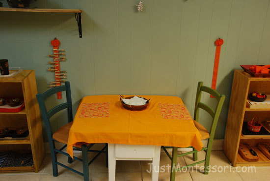 Pumpkin Themed Snack Table