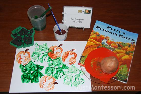Pumpkin Book with Art
